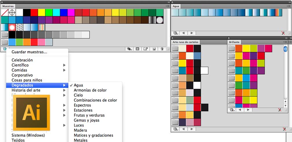 Imprimir biblioteca de muestras de Illustrator - Foros del Web