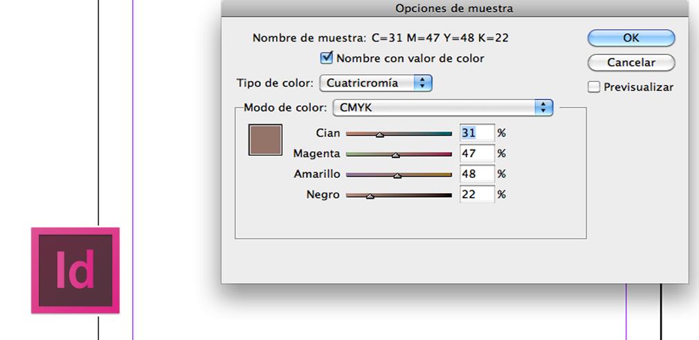 cuatricomia y el panel muestras en indesign | Lc tutorial ...