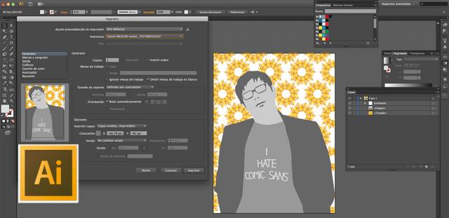 opciones de impresión adobe illustrator