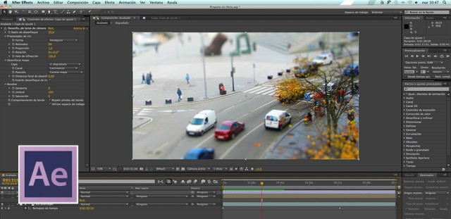 tilt shift o diorama en after effects