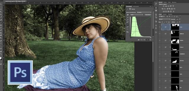 colorear con capas de ajuste de curvas photoshop